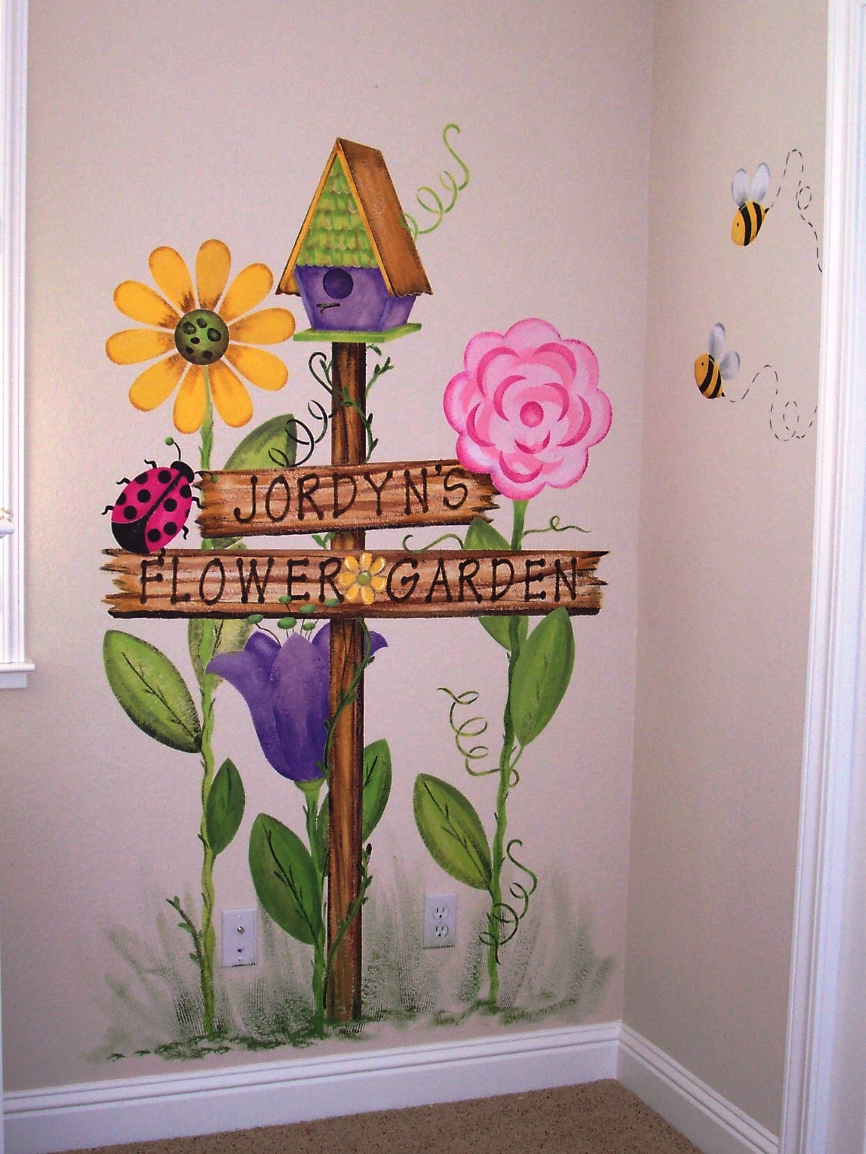 1000 images about murals on pinterest church nursery for Butterfly garden mural