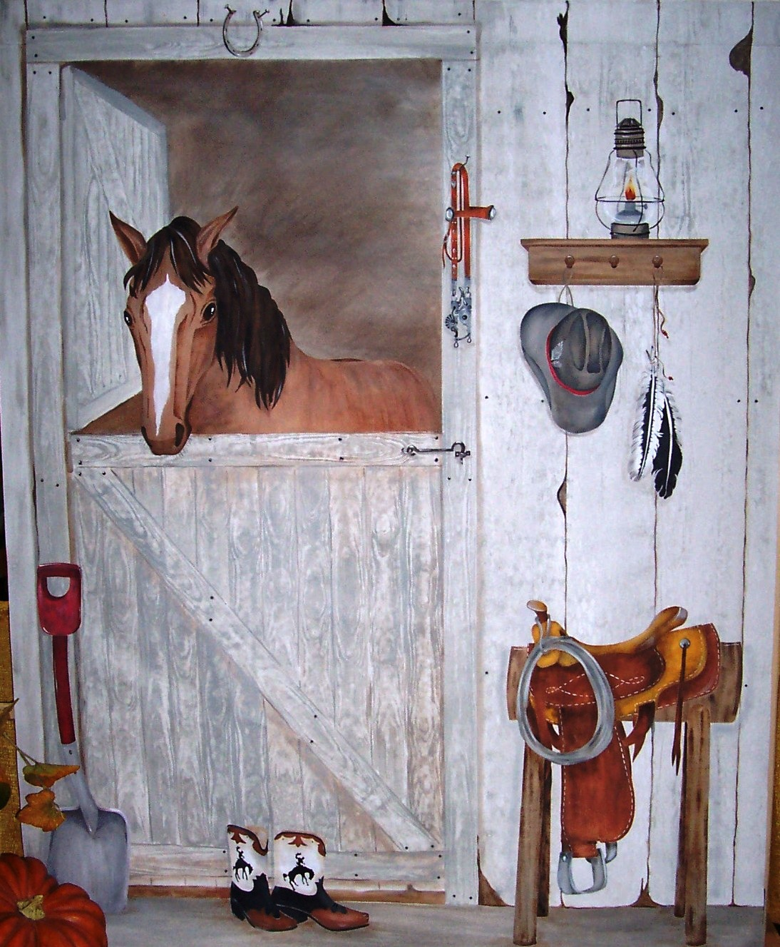 Childrens painted wall murals cathie 39 s murals for Cowboy wall mural