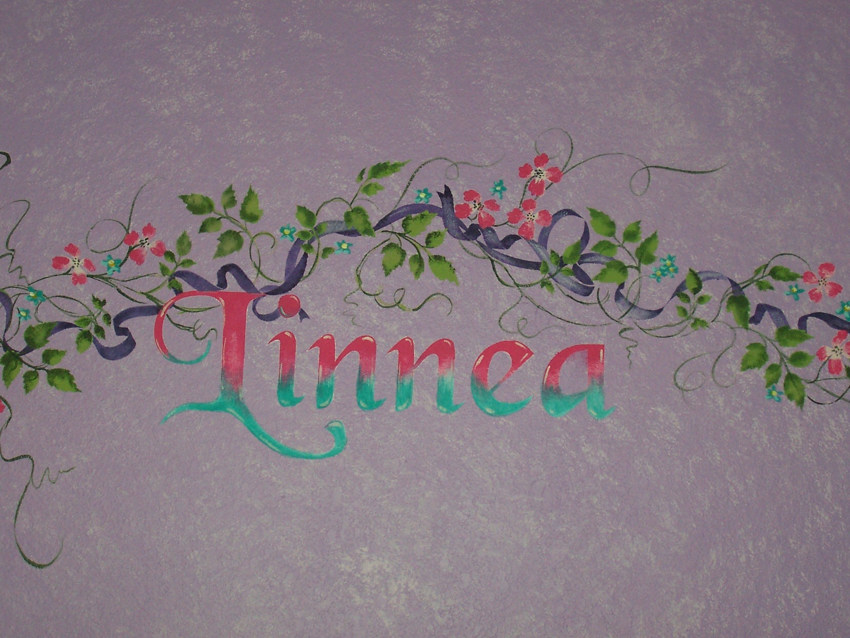 Childrens painted wall murals cathie 39 s murals for Mural lettering