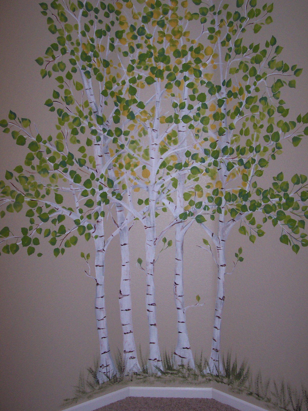 childrens painted wall murals cathie s murals childrens murals trees aspens