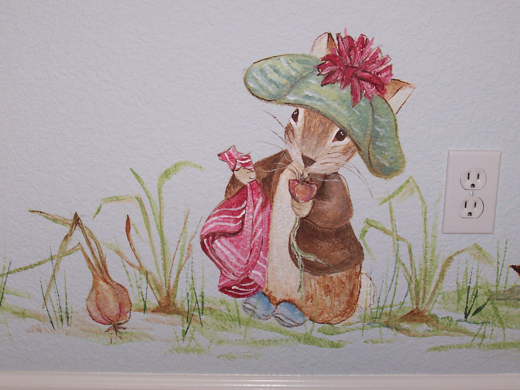 Beatrix potter wall mural for Beatrix potter mural wallpaper