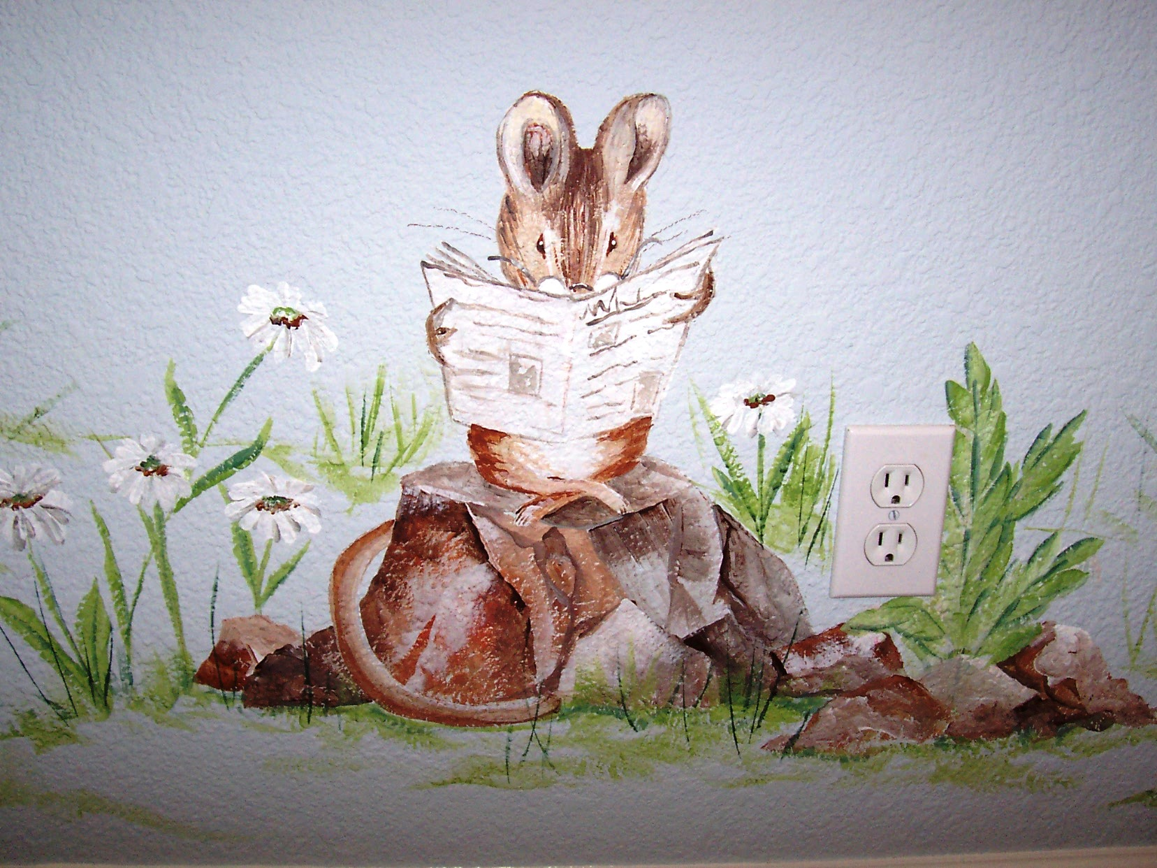 Childrens painted wall murals cathie 39 s murals for Beatrix potter wall mural