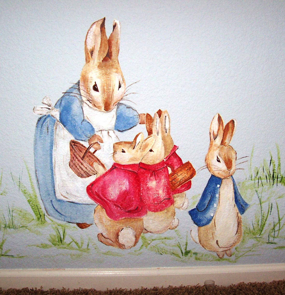 Childrens Murals Character Beatrix Potter Peter Rabbit Family Part 90