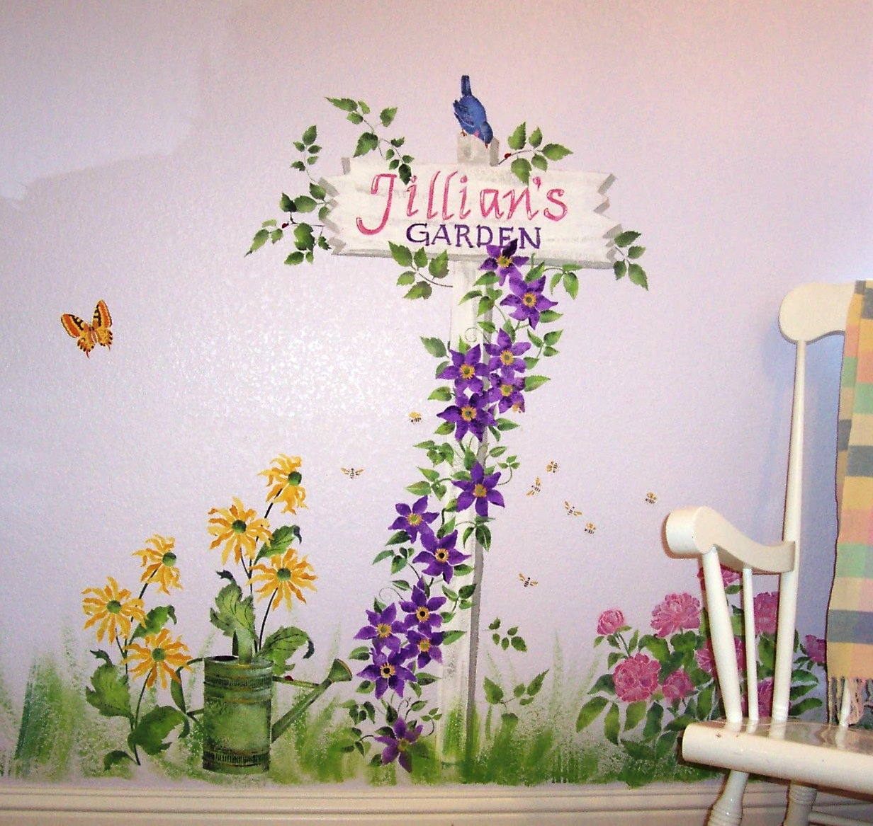 Childrens painted wall murals cathie 39 s murals for Mural flower