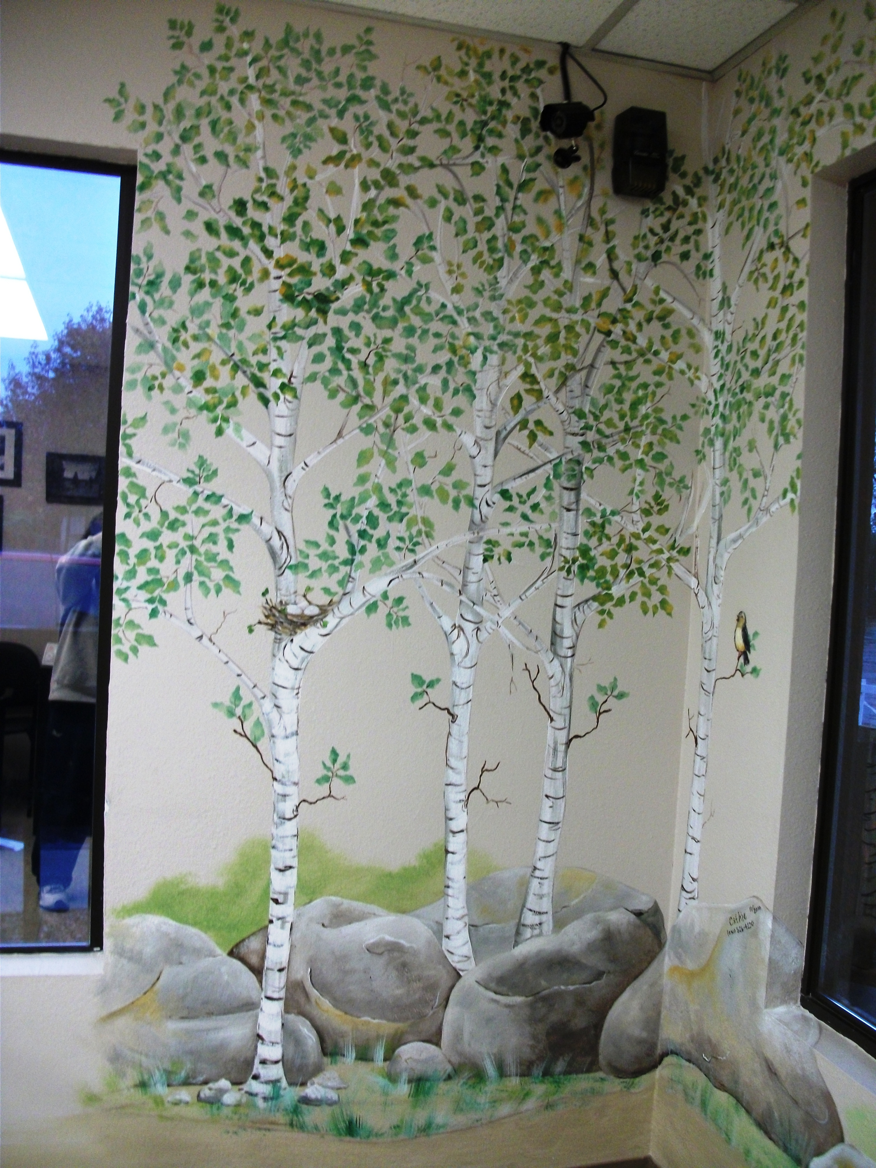 commercial murals cathie s murals pin wall murals trompe l oeil ceiling faux finish on pinterest